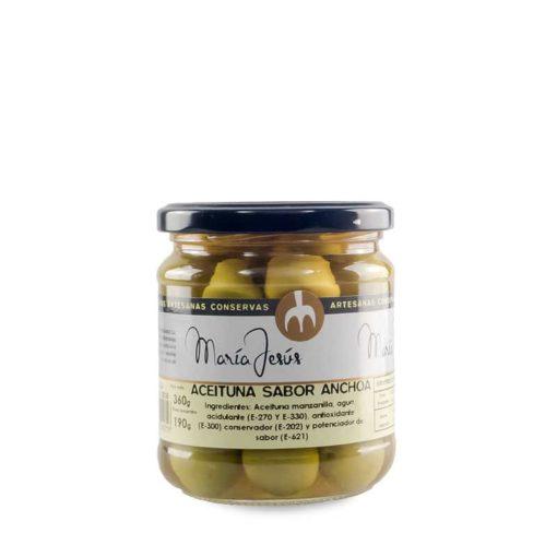 Aceitunas con sabor a anchoa